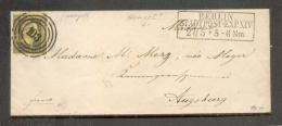 Preussen 4 Schöner Brief Nach Augsburg (R9802 - Preussen