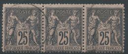 Lot N°39448  Bande De Trois N°97, Oblit Cachet à Date - 1876-1878 Sage (Type I)