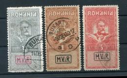Rumänien Kriegsmarken VIII/X SATZ Gest. 120EUR (Z9503 - Besetzungen 1914-18