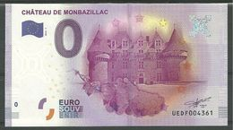 Billet Touristique 0 Euro 2016  Château De Monbazillac épuisé - Essais Privés / Non-officiels
