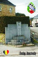 Carte Postale, Militaria, Monuments, World War I Monuments, Belgium (Luxembourg), Bourcy - Monuments Aux Morts