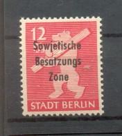 SBZ 204DDII DOPPELAUFDRUCK/BLINDDRUCK**POSTFRISCH BPP (47592 - Sowjetische Zone (SBZ)