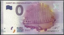 Billet Touristique 0 Euro  2016  Canot De L'Empereur Napoléon - Private Proofs / Unofficial