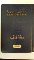 Judaica Jewish Israel Passport Travel Document Visa Reisepass 1958 W.photo Judaika - Documents Historiques