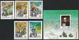Hungary 1991 Scott 3314-19 MNH Discovery Of America 500 Years, Columbus - Neufs