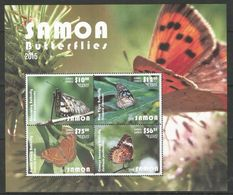 SAMOA - MNH - Animals - Insects - Butterflies - 2015 - Papillons