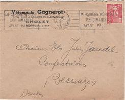 Enveloppe Commerciale 1949 / Vêtements GAGNEROT / 49 Cholet - Maps