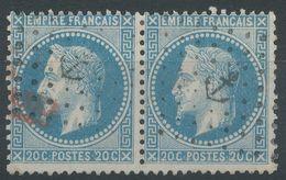 Lot N°39456  Paire Du N°29A, Oblit Losange Ancre Et Amorce De Cachet Rouge - 1863-1870 Napoleone III Con Gli Allori