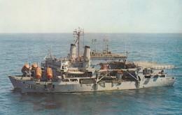 USS Pigeon, US Navy Submarine Rescue Ship, C1970s Vintage Postcard - Warships
