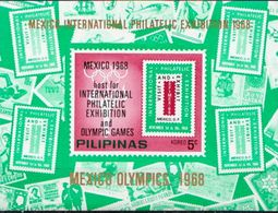 Philippines MNH Perforated And Imperforated SSs - Summer 1968: Mexico City