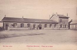Chaulnes Place De La Gare   Carte Avant 1914 - Chaulnes