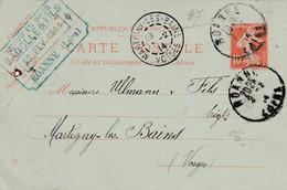 Carte Commerciale 1914 / Entier / BADOLLE & Fils / Tissus En Gros / 42 ROANNE / Loire - Maps