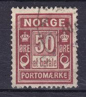 Norway Porto Postage Due 1968 Mi. 6 I A    50 Øre Ziffernzeichnung 'å Betale' Und Portomerke - Port Dû (Taxe)
