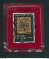 N° 1129 Le Penny Black, Timbre N°1 De Grande Bretagne Timbre De Collection Neuf The Penny Black Bhutan 140 NU. 22 Karat - Territoire Britannique De L'Océan Indien