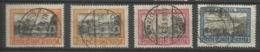 Danzig 1924/25 Sightseeing 1 Gulden - 3 Gulden , 1 G. With Shades Cancelled O - Danzig