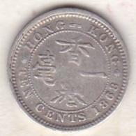 Hong Kong . 10 Cents 1868 . Victoria. Argent .  KM# 6.3 - Hongkong