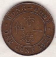Hong Kong . 1 Cents 1923 .George V. Bronze .  KM# 16 - Hong Kong