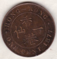 Hong Kong . 1 Cents 1877. Victoria. Bronze .  KM# 4.1 - Hong Kong