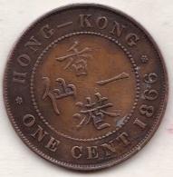 Hong Kong . 1 Cents 1866. Victoria. Bronze .  KM# 4.1 - Hong Kong