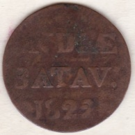 SUMATRA, Netherlands East Indies .1/2 Stuiver 1822 , Copper, KM# 284.2 - Indonesia