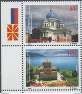 MACEDONIA, 2017, MNH,JOINT ISSUE WITH RUSSIA, CHURCHES, LANDSCAPES, LAKES, MOUNTAINS, 2v - Joint Issues