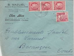 """Carte Commerciale 1947/ S. MAZUEL / Confection / """"Chez Alice"""" / 19 Bort Les Orgues / Corrèze - Maps"""
