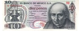 Mexico P.63  10 Pesos 1977 Unc - Messico