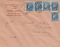 Enveloppe Commerciale 1948 / Emile SULSER / Manufacture Articles Religieux / Religion / 92 Boulogne Billancourt - Maps