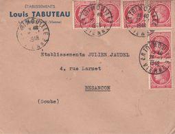 Enveloppe Commerciale 1948 / Louis TABUTEAU / Confection / 86 La Trimouille (CAD) / Vienne - Maps