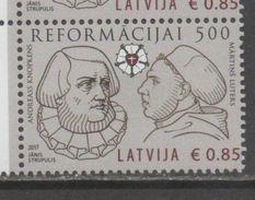 LATVIA , 2017, MNH, CHRISTIANITY, REFORMATION, LUTHER, 1v - Christianity