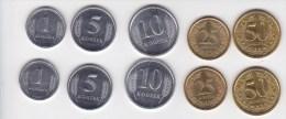 2000 - 2002 , Moldova , Moldavie , Transnistria , 2 Set Of Coins , UNC - Moldova