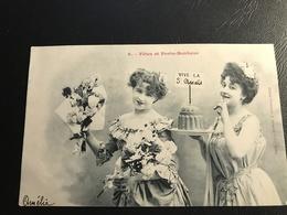 6 - Fetes Et Porte Bonheur (Femmes Avec Fleurs & Gateau) - Autres