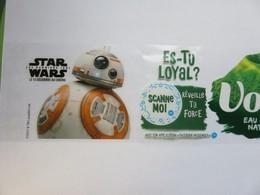 Star Wars 8 - Etiquette Publicitaire Sur Bouteille Volvic - Robot BB-8 - Merchandising