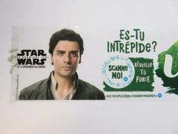 Star Wars 8 - Etiquette Publicitaire Sur Bouteille Volvic - Merchandising