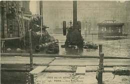 160118A CATASTROPHE NATURELLE - Crue De La Seine Janvier 1910 - 75 PARIS Gare Saint Lazare - Chemin De Fer Pompe Pompier - Firemen