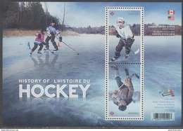 CANADA, 2017, MNH, JOINT ISSUE WITH THE USA, HOCKEY, S/SHEET - Joint Issues