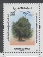 MOROCCO, 2017, MNH, JOINT ISSUE, EUROMED ,TREES, 1v - Trees