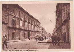 A125 TORRE ANNUNZIATA NAPOLI CORSO UMBERTO I ANIMATA 1950 CIRCA - Torre Annunziata