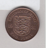 Jersey 1981 2p Coin (Low Mintage 50K) - Jersey