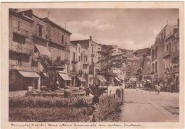 A126 POZZUOLI NAPOLI CORSO VITTORIO EMANUELE CON ANTICA FONTANA ANIMATA 1950 CIRCA - Pozzuoli
