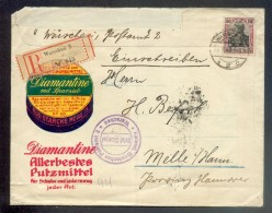 DR-Germania HERRLICHER WERBEUMSCHLAG DIAMANT PUTZMITTEL (R1503 - Storia Postale