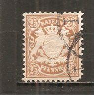 Baviera. Nº Yvert  52  (usado) (o) (defectuoso) - Bavaria