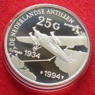 Antilles Nederland 25 G 1994 Aviation Plane Silver Proof - Netherland Antilles
