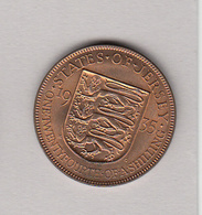 Jersey 1935 George V 1/24th Of Shilling - Jersey