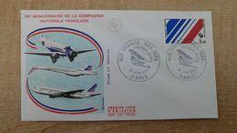 FDC - N°2278 -  50 ème Anniversaire De La Création De La Compagnie Air-France. - 1980-1989
