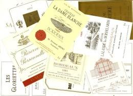 Lot De 65 étiquettes  Uniquement Appelations Bordelaises, Bordeaux, St Estephe, Grave, Sauterne ..excellent état - Bordeaux