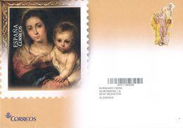 Spanien Ganzsachenumschlag - Weihnachten 2017 - Madonna, Gemälde, Navidad - Ganzsachen