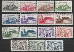 Fezzan. 1946 N°28-42 N** - Fezzan (1943-1951)