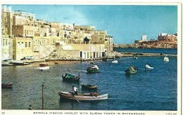 Malta - Spinola Fishing Hamlet With Sliema Tower In Background  17 - Raphael Tuck & Sons - Malta