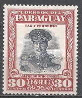 Paraguay 1958. Scott #540 (M) President Alfredo Stroessner - Paraguay